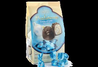 Praline Crispo al cioccolato con crema a latte