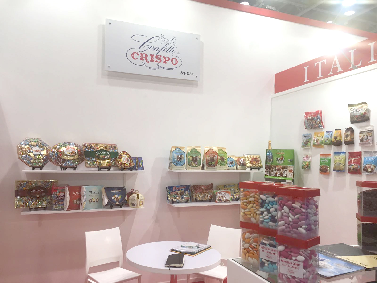 Confetti Crispo at Gulfood festival in Dubai