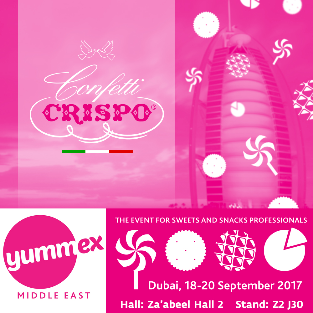 Yummex Middle East 2017: Confetti Crispo takea part in the Dubai exhibition