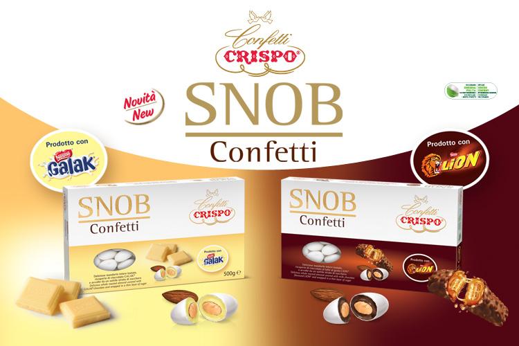 Confetti Crispo, in collaborazione con Nestlè, presenta due nuovi irresistibili prodotti: Confetti Snob al gusto GALAK® e Confetti Snob al gusto LION®!
