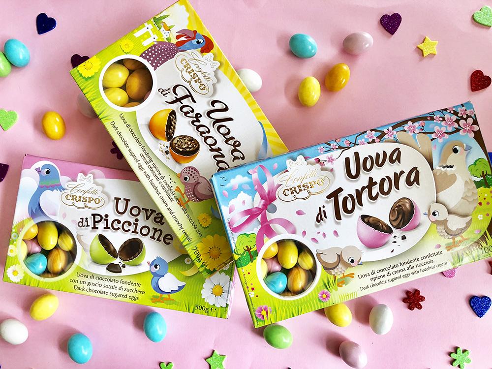 Ovetti di cioccolato Crispo: ovetti confettati e classici per Pasqua