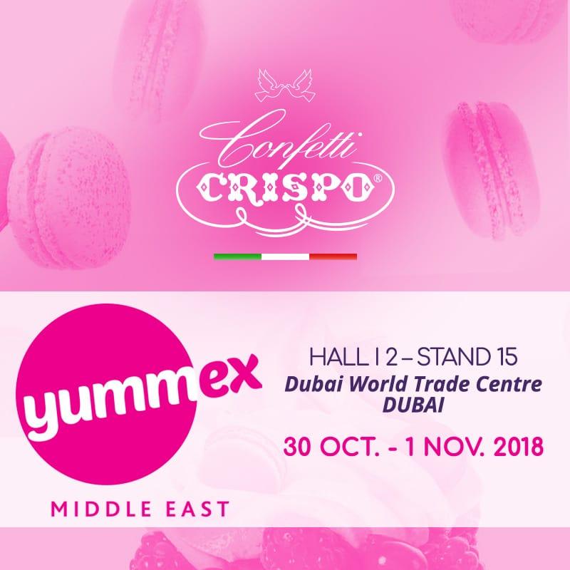 Si vola a Dubai: Confetti Crispo al Yummex 2018