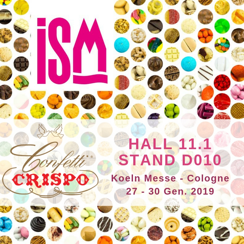 ISM 2019: Confetti Crispo in Cologne from 27 to 30 January 2019