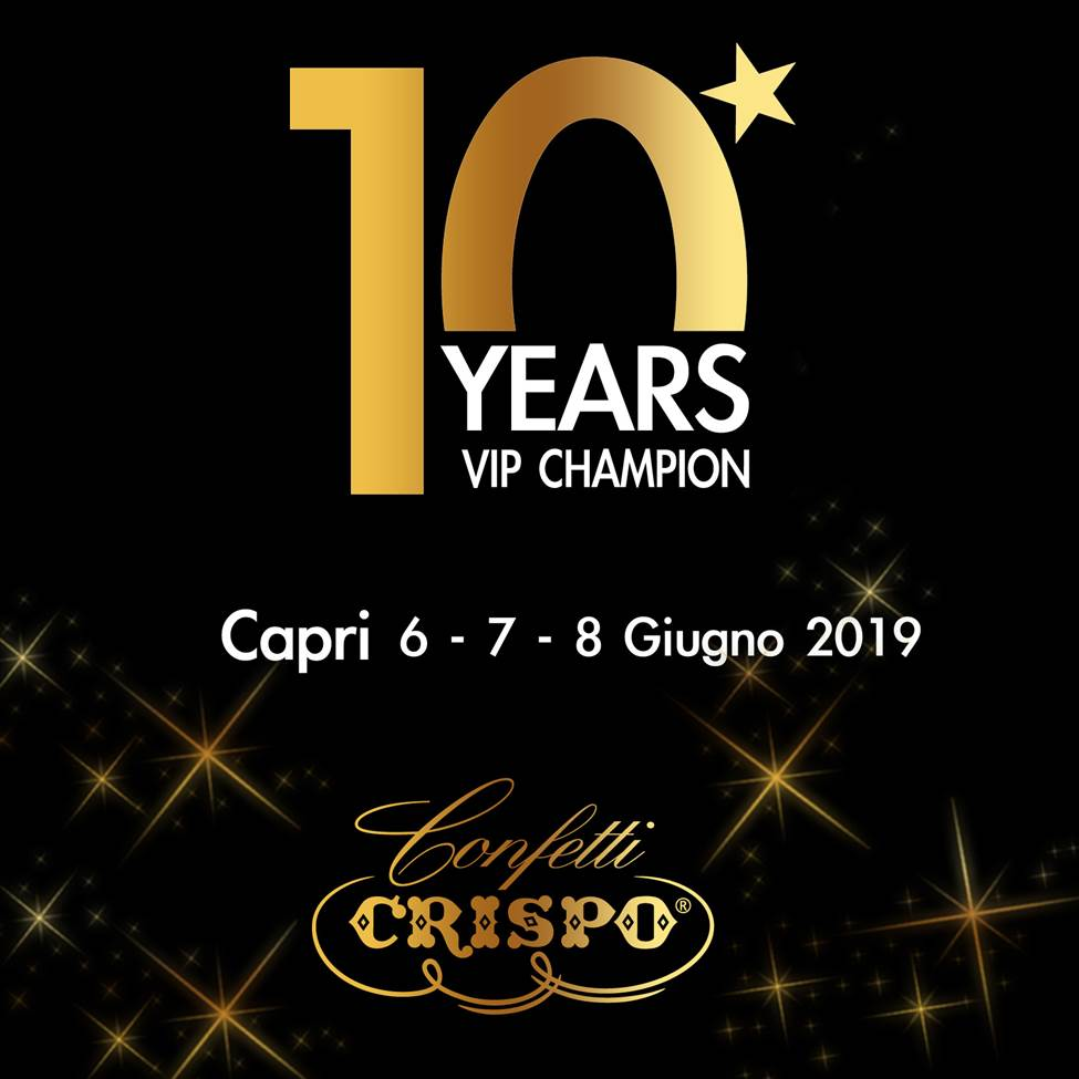 Confetti Crispo a Capri per il Vip Champion 2019