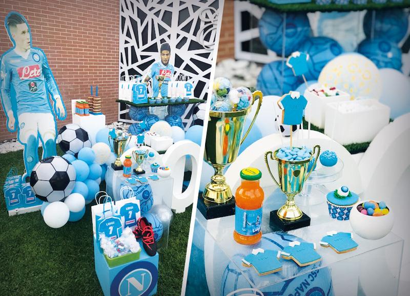 Confettata a tema SSC Napoli : per un compleanno da veri tifosi