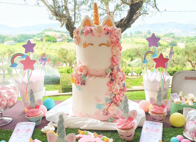 Confettata a tema Unicorno: per una festa di compleanno magica