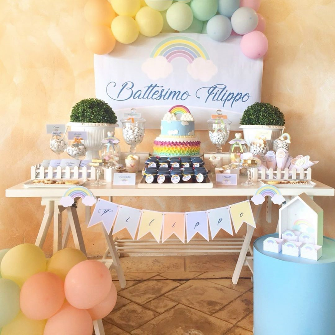 Battesimo o festa a tema: Confettata per Arcobaleno Party