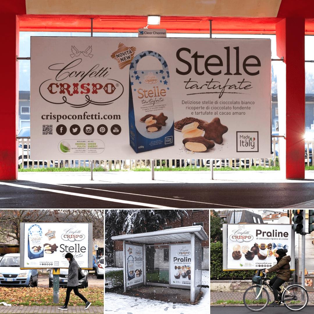 Confetti Crispo's new advertising campaign in Veneto is about to start