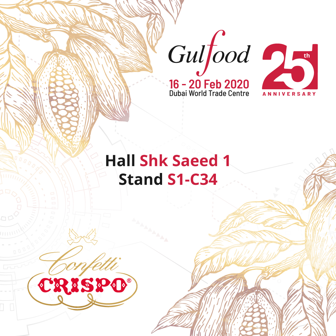 Confetti Crispo flies to Dubai to participate in the 25th edition of the Gulfood fair
