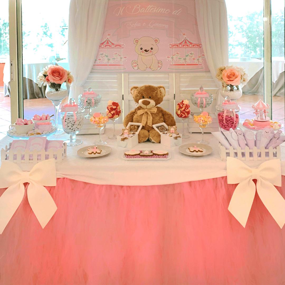 Festa a tema orsetto per il battesimo di una bimba