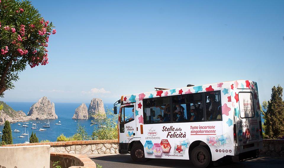 Campagna Outdoor di Confetti Crispo a Capri