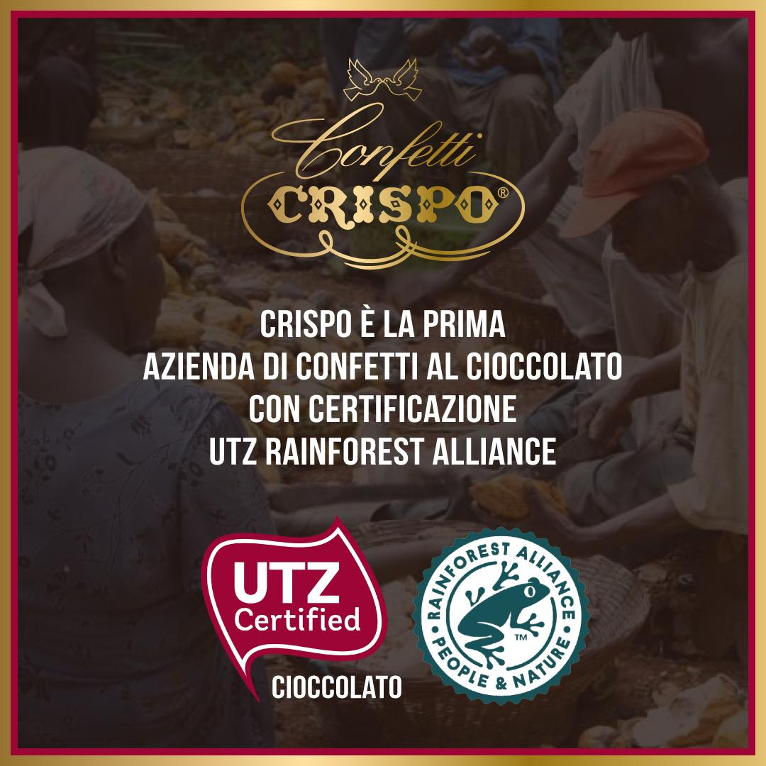 I confetti al cioccolato Crispo sono certificati UTZ